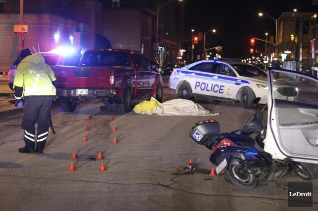 Un homme se promenant en vélo électrique est mort écrasé sous une camionnette... (Patrick Woodbury, LeDroit)