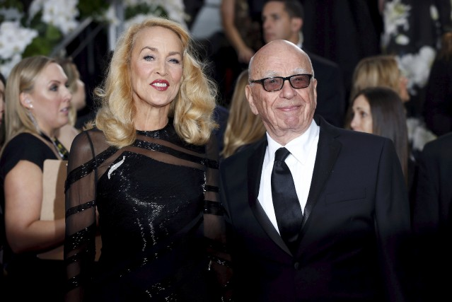 Jerry Hall et Rupert Murdoch.... (Photo Reuters)