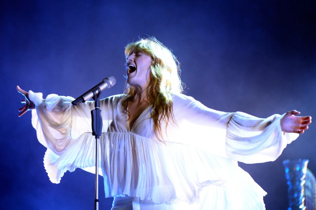 Florence Welch lors de son passage au festival... (PHOTO BERNARD BRAULT, ARCHIVES LA PRESSE)