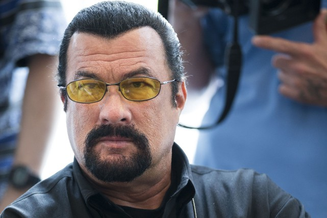 Steven Seagal à Moscou, en 2013... (PHOTO ARCHIVES ASSOCIATED PRESS)