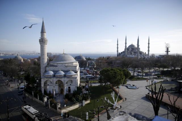Le secteur historique d'Istanbul où s'est produit l'explosion.... (Associated Press, Emrah Gurel)