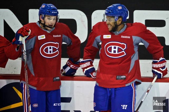 Alex Galchenyuk et Devante Smith-Pelly... (Photo André Pichette, archives La Presse)