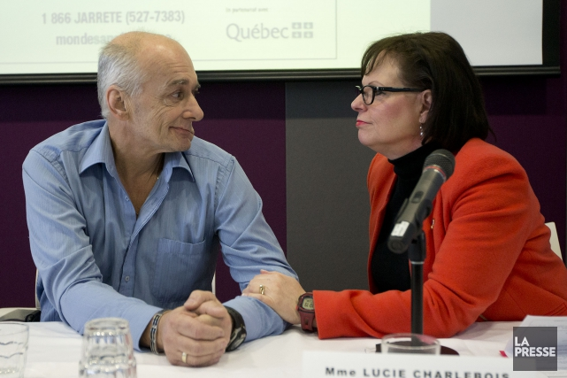 Le porte-parole de la Semaine pour un Québec... (PHOTO PATRICK SANFAÇON, LA PRESSE)