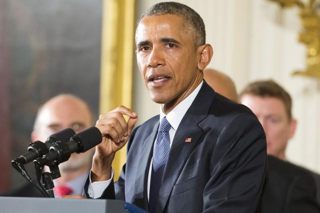 À plusieurs reprises, le présidnet Obama, qui s'est... (PHOTO PABLO MARTINEZ MONSIVAIS, ARCHIVES AP)