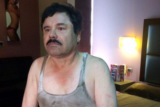 Joaquín «El Chapo» Guzmán, tout juste repris par... (PHOTO PLAZA DE ARMAS/AFP)