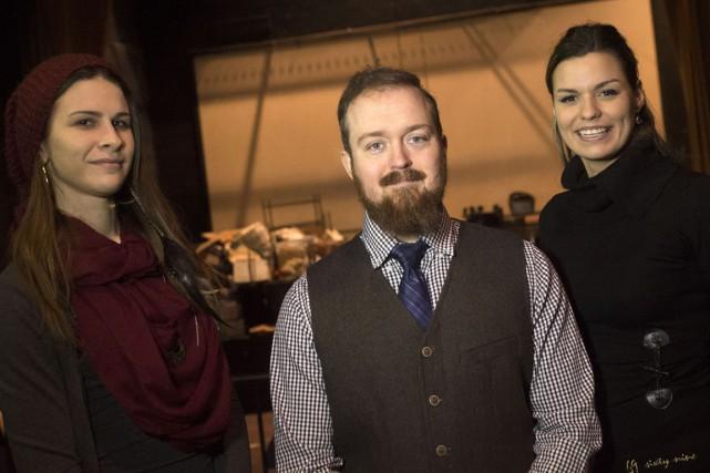 Voici trois des quatre entrepreneurs derrière le projet... (Stéphane Lessard)