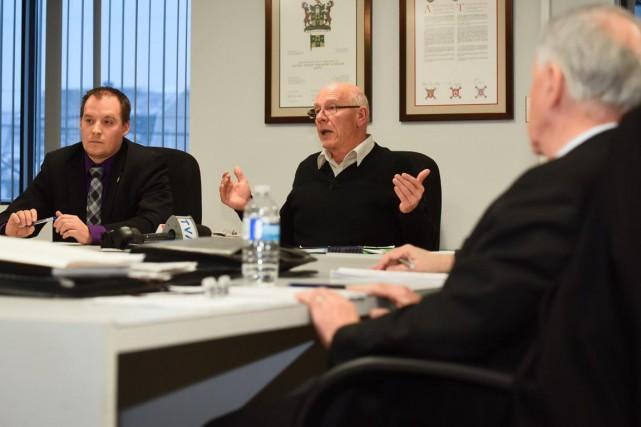 Les maires des municipalités visées par l'étude de... (François Gervais)