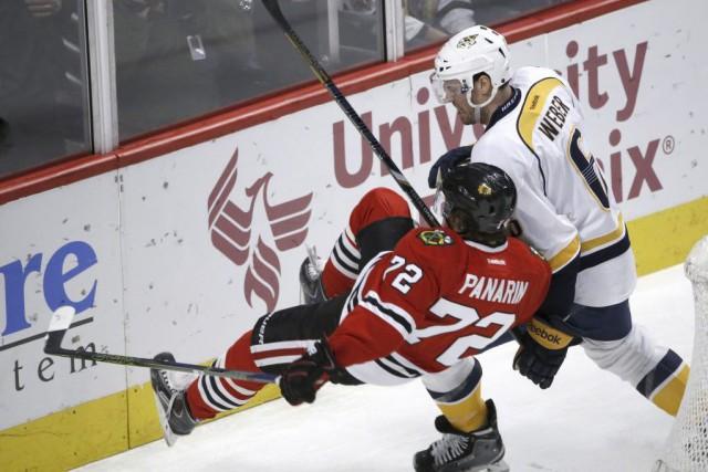 Andrew Shaw a récolté un doublé et les Blackhawks de Chicago ont vaincu les... (PHOTO AP)