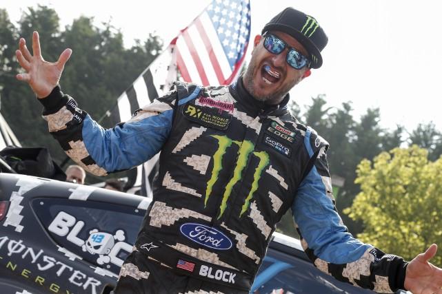 Vedette mondiale de rallycross, Ken Block est surtout... (Championnat mondial de rallycross)