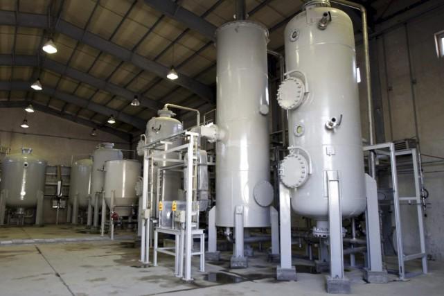 Le réacteur à eau lourde d'Arak, situé à... (Photo Fars News Agancy, Archives AP)