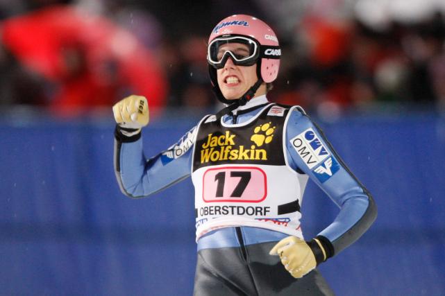 Le sauteur à skis autrichien Lukas Müller.... (Photo Matthias Schrader, archives AP)