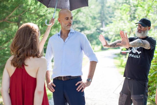 James Hyndman et Denis Côté sur le tournage... (PHOTO TIRÉE DE FACEBOOK)