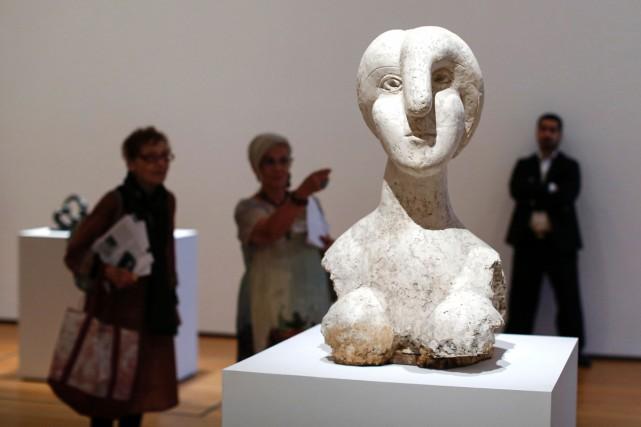 Buste de femme (Marie Thérèse) de Picasso... (PHOTO AFP)