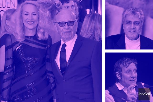 Rupert Murdoch se fiance à Jerry Hall (Infographie Le Soleil)