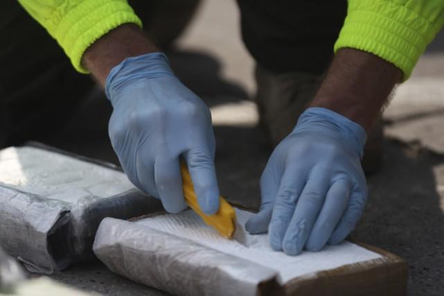 Quatre tonnes de cocaïne d'une valeur de 120 millions de dollars ont été... (PHOTO AFP)