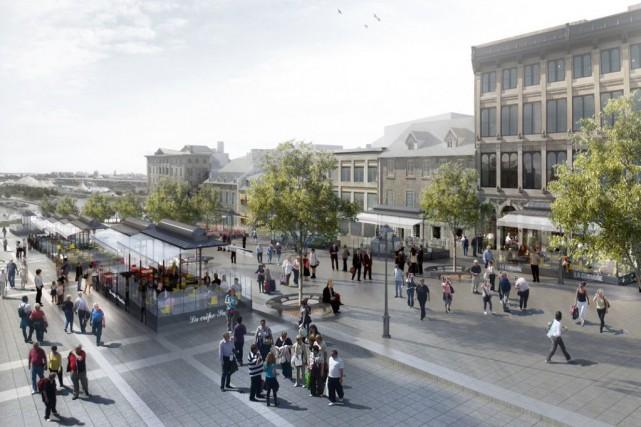 La place Jacques-Cartier sera réaménagée.... (PHOTO FOURNIE PAR LA VILLE DE MONTRÉAL)