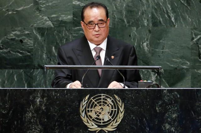 Le ministre nord-coréen des Affaires étrangères Ri Su-yong... (PHOTO RAY STUBBLEBINE, ARCHIVES REUTERS)