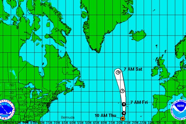 L'ouragan se trouve à un peu moins de... (IMAGE NOAA)