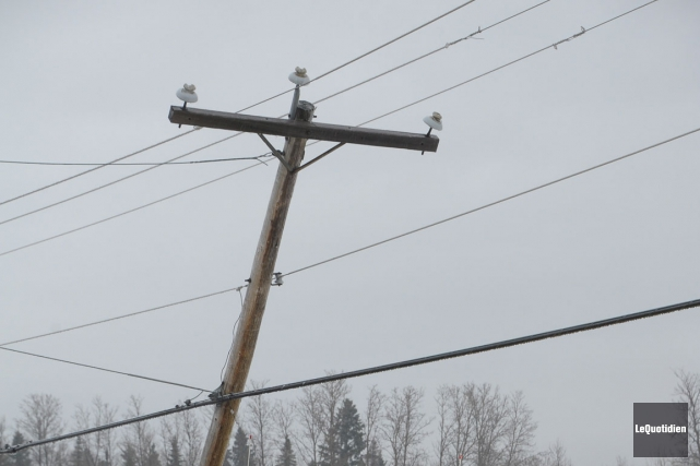 Un violent accident de la route est à l'origine d'une panne électrique survenue... (Archives Le Quotidien)