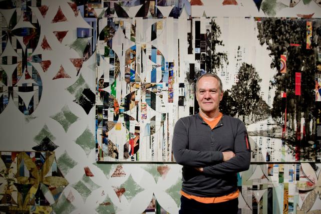 L'artiste visuel Luc Bergeron habite l'installation et installe... (PHOTO MARCO CAMPANOZZI, LA PRESSE)