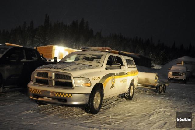 Deux motoneigistes de la région de Coaticook sont entrés en collision, mercredi... (Archives Le Quotidien)