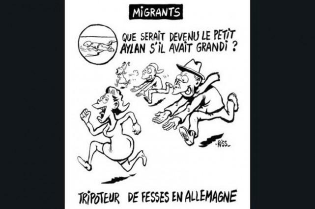 La caricature de Riss dépeint un pervers à... (La Presse Canadienne, Ho)