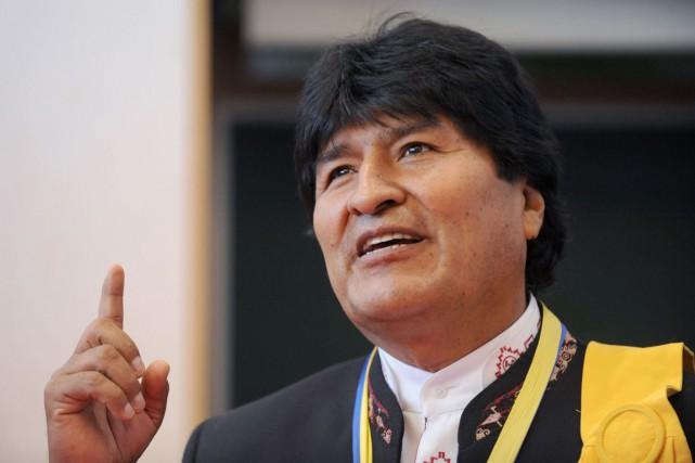 Le président Evo Morales considèreles investissements publics comme... (Gaizka Iroz, Archives AFP)