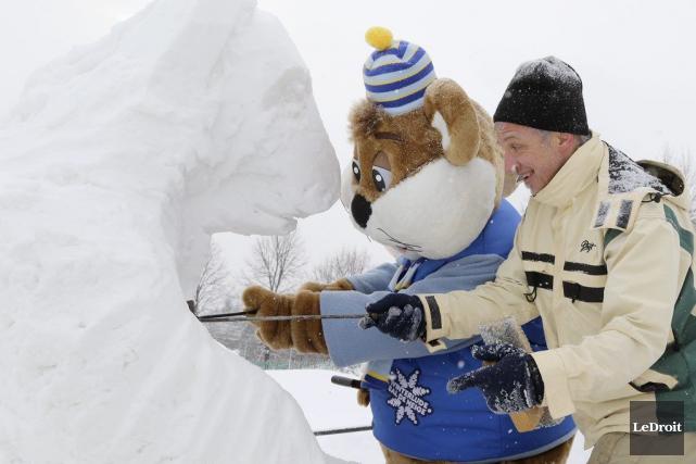 Les sculptures sur neige seront encore une fois... (Patrick Woodbury, LeDroit)