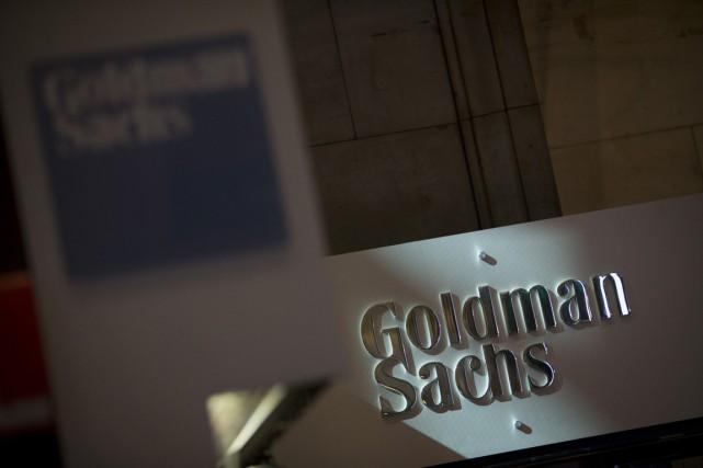 Goldman Sachs a annoncé jeudi être parvenue à un accord de principe de 5,06... (Photo d'archices Bloomberg)