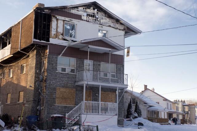 L'immeuble de 12 logements est une perte totale.... (Stéphane Lessard)