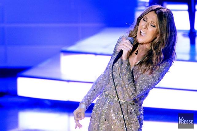 Céline Dion lors de son retour au Colosseum... (PHOTO BERNARD BRAULT, ARCHIVES LA PRESSE)