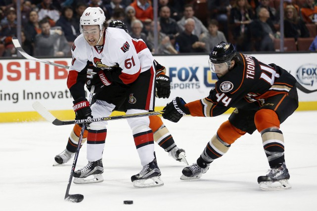 Mark Stone s'amenait seul devant le gardien. Mais... (Sean M. Haffey, Getty Images/AFP)