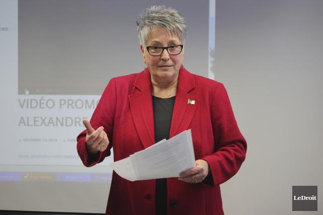 Céline Baillargeon-Tardif est gestionnaire du projet Jeunesse Humour.... (Martin Brunette, LeDroit)