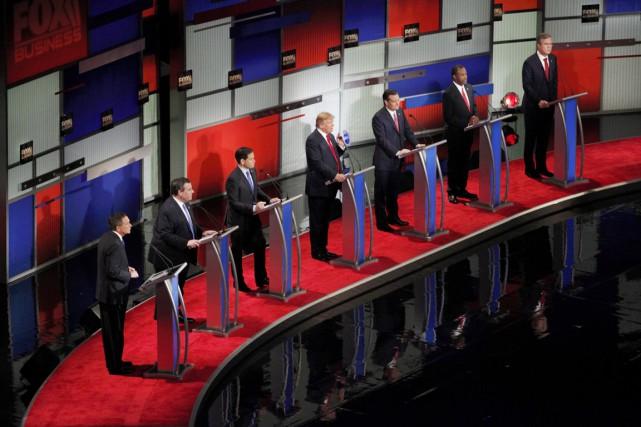 Le sixième débat entre les candidats à l'investiture... (PHOTO RANDALL HILL, REUTERS)