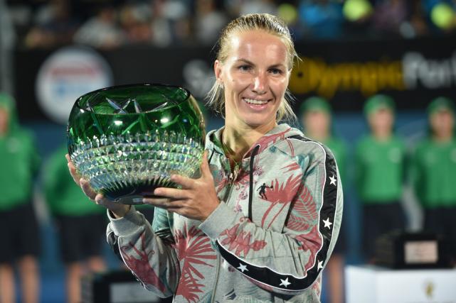La Russe Svetlana Kuznetsova a remporté le tournoi... (Photo Peter Parks, AFP)