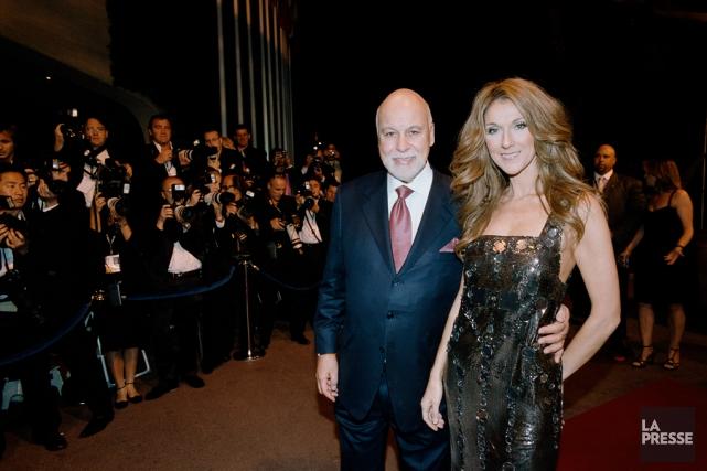 René Angélil et Céline Dion lors de leur... (PHOTO ARCHIVES LA PRESSE)