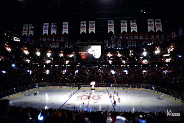 René Angélil était un grand fan du Canadien.... (PHOTO BERNARD BRAULT, LA PRESSE)