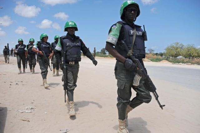 L'AMISOM, forte d'environ 22000 hommes, est déployée depuis... (PHOTO MOHAMED ABDIWAHAB, ARCHIVES AFP)