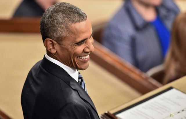 «Barack Obama était, mardi soir devant le Congrès,... (PHOTO NICHOLAS KAMM, AGENCE FRANCE-PRESSE)