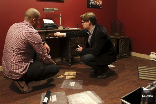 Le propriétaire de Jigsaw Escape Rooms,Matthew Prendergast (à... (Patrick Woodbury, LeDroit)