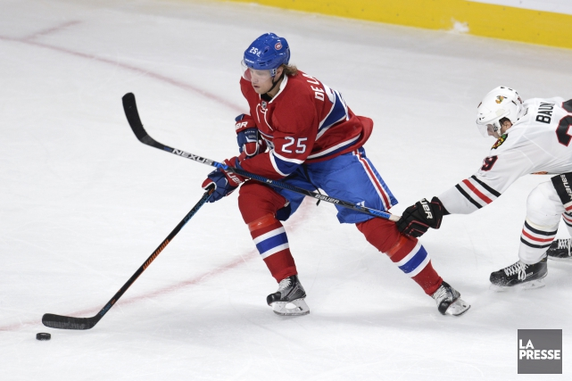 Rappelé des IceCaps vendredi, l'attaquant Jacob De La... (PHOTO BERNARD BRAULT, ARCHIVES LA PRESSE)