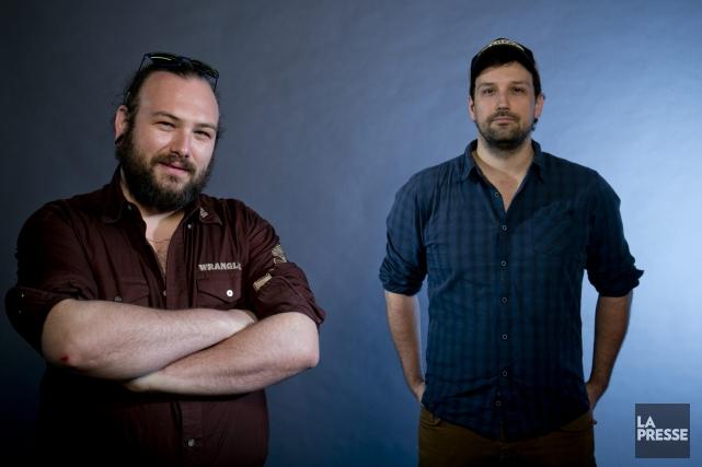 Les cinéastes Philippe David Gagné (gauche) et Jean... (Archives La Presse)