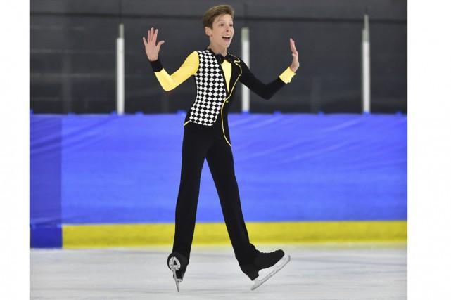 Âgé de 15 ans, le patineur artistique bromontois... (Fournie)