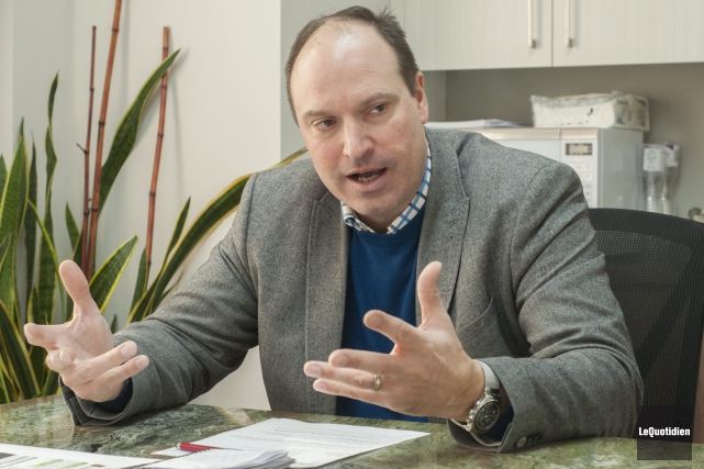 Jean-Sébastien David, vice-président aux opérations d'Arianne Phosphate, a... (Photo Le Quotidien, Gimmy Desbiens)