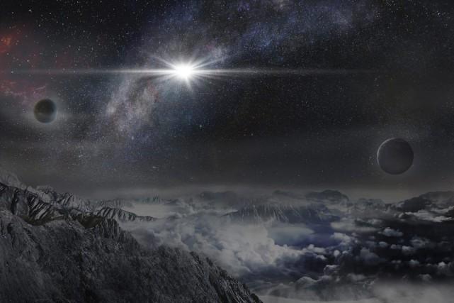 ASASSN-15lh estla plus puissante supernova jamais découverte dans... (Dessin d'artiste fourni par Kavli Fondation)