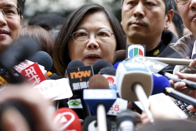 Tsai Ing-wendirige la principale formation d'opposition, le Parti... (Photo Olivia Harris, Reuters)