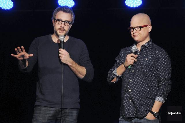 Martin Perizzolo et Simon Delisle... (Photo Le Quotidien, Rocket Lavoie)