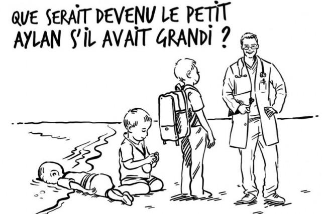 La réplique a été réaliséepar le caricaturiste jordanien... (Tirée de Facebook)
