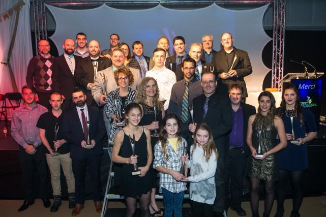 Les lauréats du Gala Sport-hommage Desjardins 2016.... (Olivier Croteau)