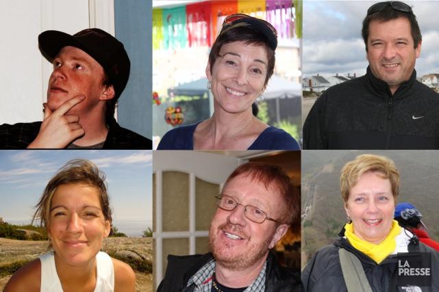 SixQuébécois ont péri dans un attentat perpétré à... (PHOTOMONTAGE LA PRESSE)